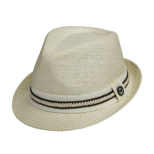 Tropical-Trends---Papier-gevlochten-Fedora-hoed-voor-dames---Zwart