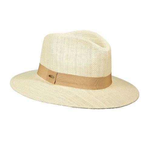 Scala---Papier-gevlochten-hoed-voor-dames---Kaki