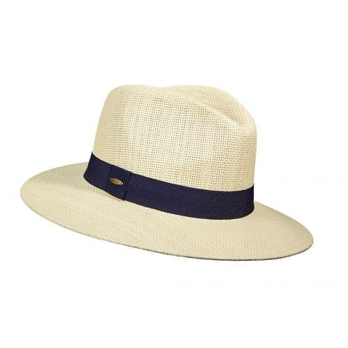 Scala---Papier-gevlochten-hoed-voor-dames---Donkerblauw