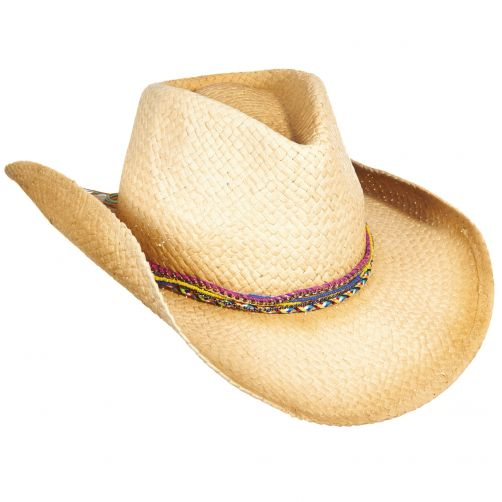Tropical-Trends---Papieren-Cowgirl-hoed-voor-dames---Naturel