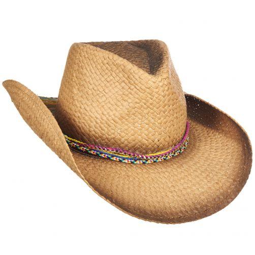 Tropical-Trends---Papieren-Cowgirl-hoed-voor-dames---Kaki