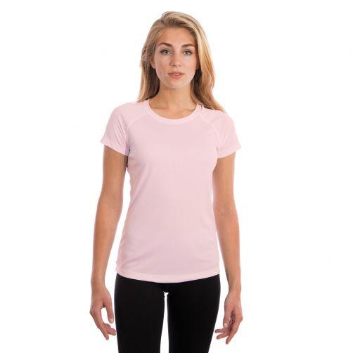 Vapor-Apparel---UV-shirt-met-korte-mouwen-voor-dames---Roze-bloesem