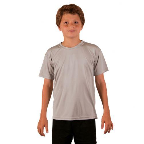 Vapor-Apparel---UV-shirt-met-korte-mouwen-voor-kinderen---grijs