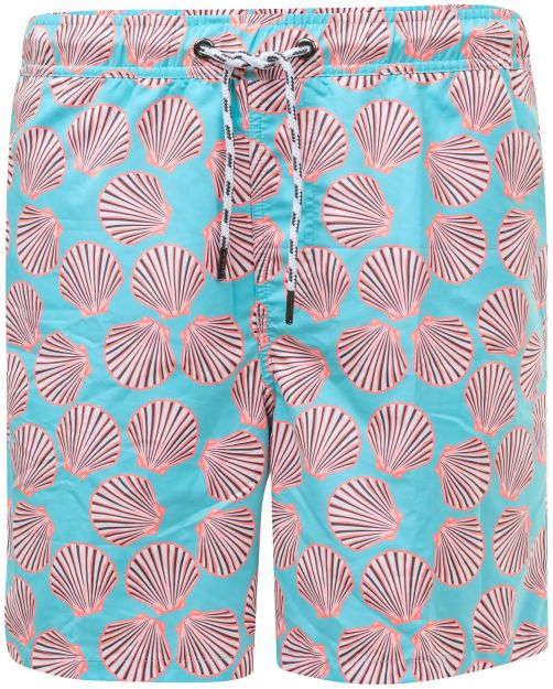 Snapper-Rock---Boardshort-voor-mannen---Shell-Print---Blauw/Oranje