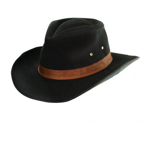 Dorfman-Pacific---UV-werende-hoed-outback-voor-heren---Zwart