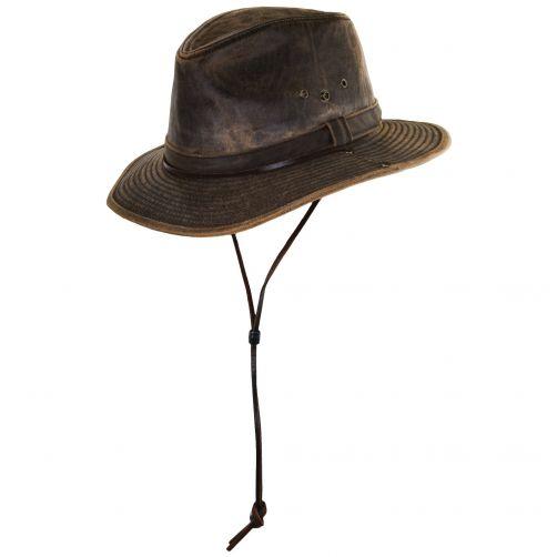 Dorfman-Pacific---UV-Aussie-hoed-voor-heren---Bruin