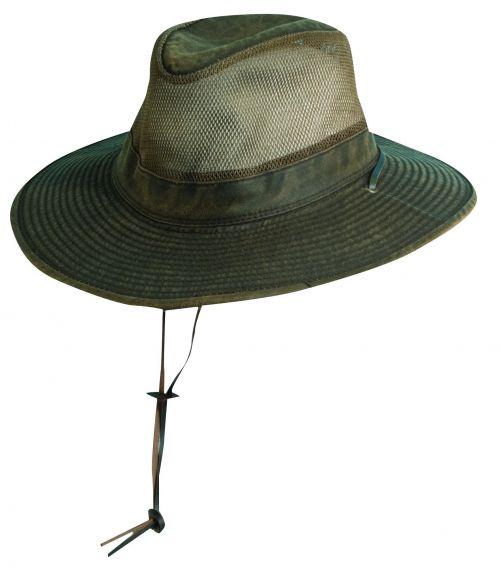 Dorfman-Pacific---Safari-hoed-met-gaas-voor-heren---Bruin