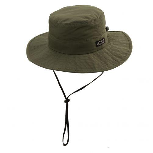 Dorfman-Pacific---UV-verstelbaar-hoed-voor-heren---Olijfgroen