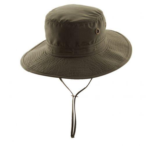 Dorfman-Pacific---UV-werende-avontuurlijke-hoed---heren---Olijfgroen