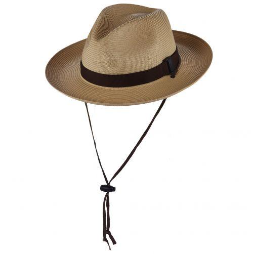 Scala---Gevlochten-Safari-Cowboy-hoed-voor-heren---Naturel