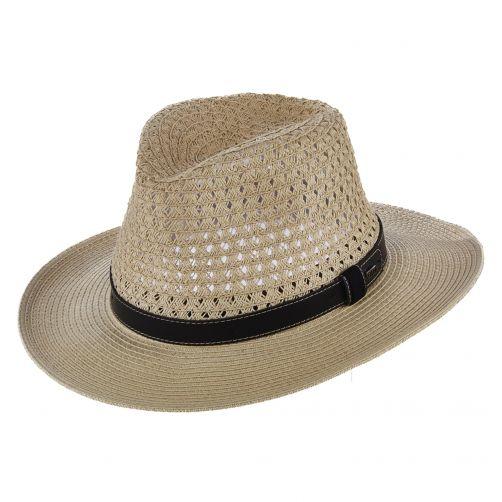 Scala---Safari-gevlochten-hoed-voor-heren---Naturel