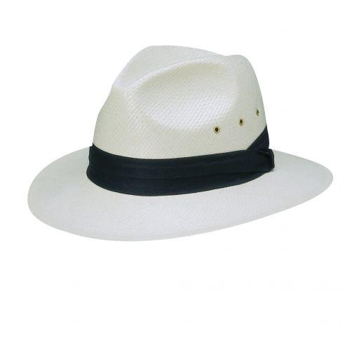 Dorfman-Pacific---Safari-Toyo-hoed-voor-heren---Donkerblauw