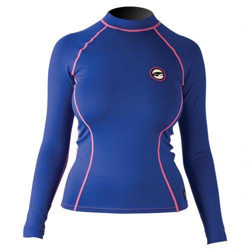 Prolimit---Zwemshirt-voor-dames-met-lange-mouwen---Blauw-/-roze