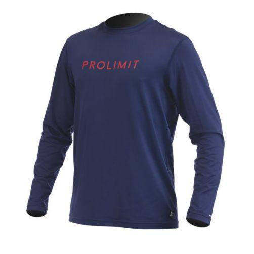 Prolimit---UV-shirt-voor-heren---Donkerblauw-/-geel