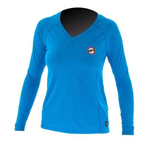 Prolimit---UV-shirt-voor-dames-met-lange-mouwen---Felblauw-/-roze
