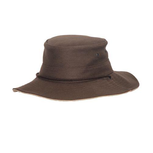 Rigon---UV-booniehoed-voor-heren---Chocoladebruin-/-beige