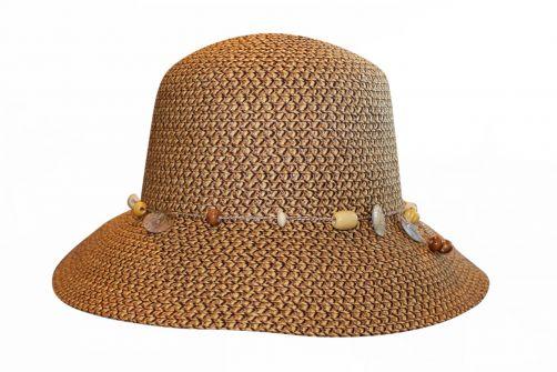 Rigon---UV-bucket-hat-voor-dames---Chocoladebruin-gevlekt