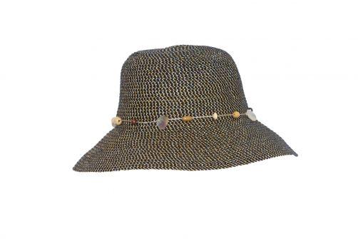 Rigon---UV-bucket-hat-voor-dames---Navy-blauw-gevlekt