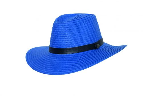 Rigon---UV-fedorahoed-voor-vrouwen---Royal-blauw