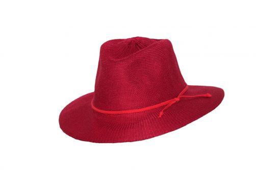 Rigon---UV-fedorahoed-voor-dames---Jacqui---Poppy-rood