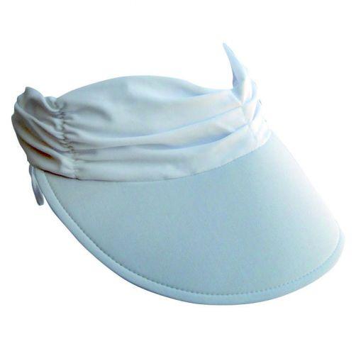Rigon---Zonneklep-voor-dames-met-geplooide-stof---Calypso---Wit