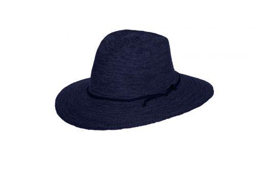 Rigon---UV-fedorahoed-voor-dames---Jacqui---Gemengd-navy-blauw