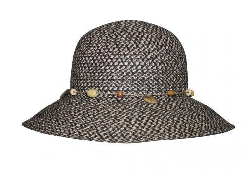 Rigon---UV-bucket-hat-voor-dames---Steenkoolgrijs-gevlekt