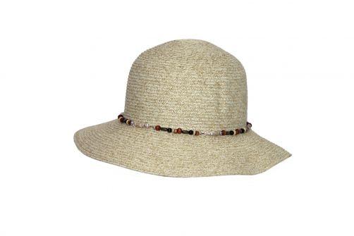 Rigon---UV-bucket-hat-voor-dames-met-kralen---Ivoor