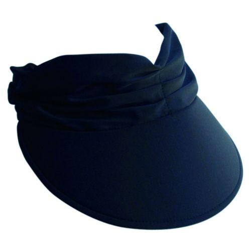 Rigon---Zonneklep-voor-dames-met-geplooide-stof---Calypso---Zwart