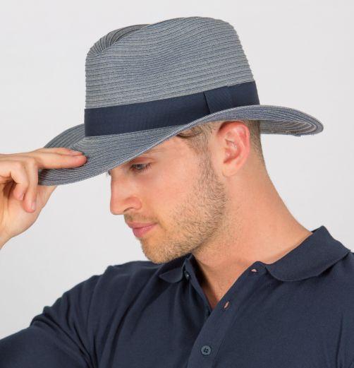 Rigon---UV-fedorahoed-voor-heren---Denim-blauw