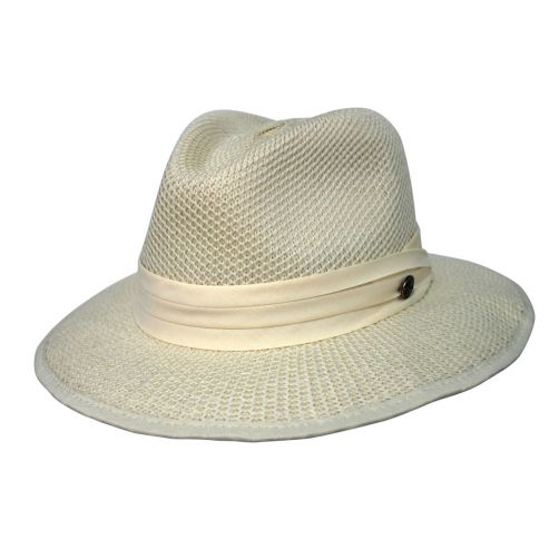 Rigon---UV-fedorahoed-voor-heren---Mandalay---Crèmewit