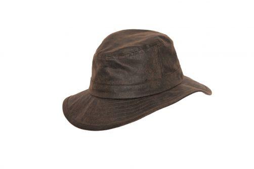 Rigon---Bucket-hat-voor-heren---Suedette---Vintagebruin