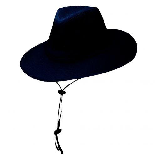 Dorfman-Pacific---Safari-hoed-van-solarweave-voor-heren---Donkerblauw