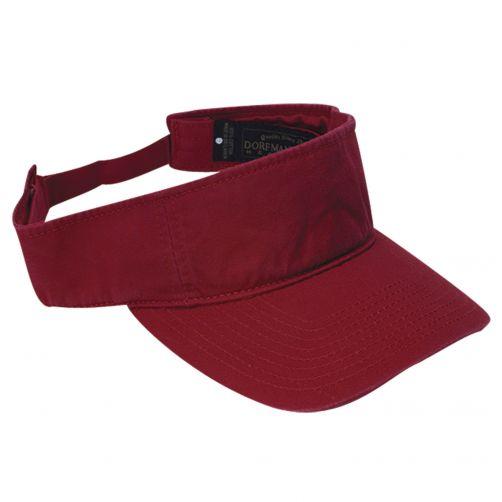 Dorfman-Pacific---Verstelbare-golf-visor-voor-heren---Rood