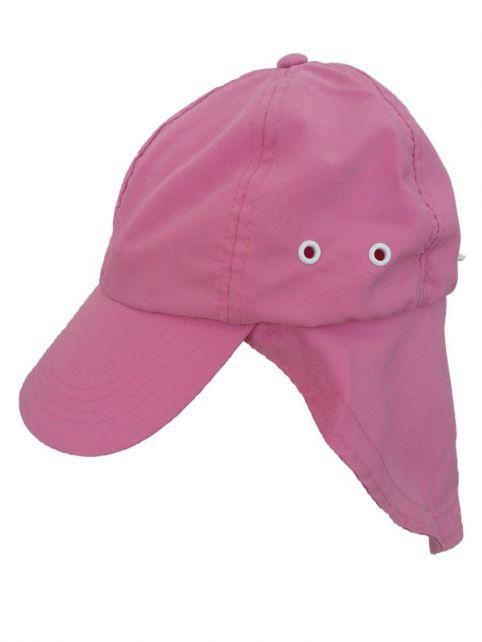 Rigon---UV-zonnepet-met-nekflap-voor-kinderen---Roze
