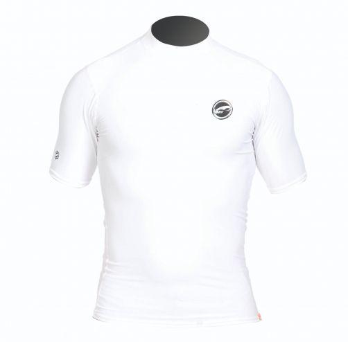 Prolimit---Zwemshirt-voor-heren-met-korte-mouwen---Wit