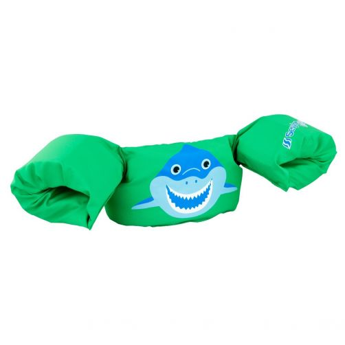 Puddle-Jumpers---Verstelbare-zwembandjes-met-haai---Groen