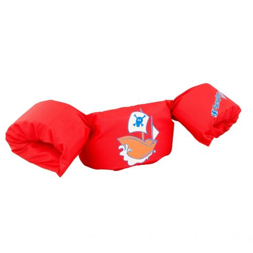 Puddle-Jumpers---Verstelbare-zwembandjes-met-piraat---Rood
