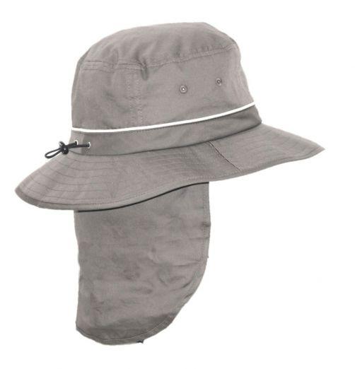 Rigon---UV-Bucket-hat-voor-heren-met-nekflap---Grijs