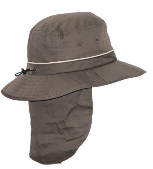 Rigon---UV-Bucket-hat-voor-heren-met-nekflap---Khaki