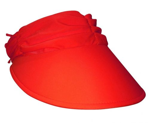 Rigon---Zonneklep-voor-dames-met-geplooide-stof---Calypso---Rood