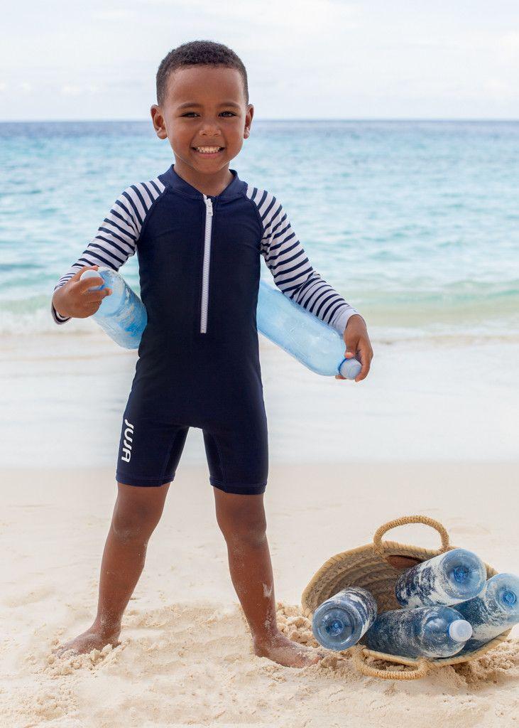 JUJA---UV-Zwempak-voor-baby's---lange-mouwen---Stripy---Donkerblauw