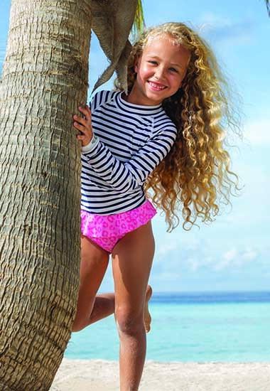 Meisjes gerecyclede UV-beschermende zwemkleding