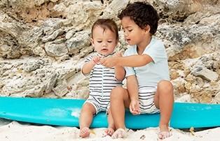 Lässig uv-zwemkleding voor jongens en meisjes