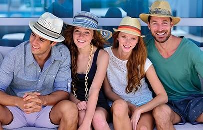 Dorfman Pacific hoeden voor jong en oud